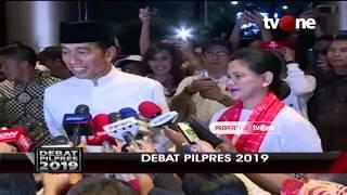 Tiba di Lokasi Debat, Jokowi: Seluruh Masyarakat Jangan Ada yang Takut Pergi ke TPS