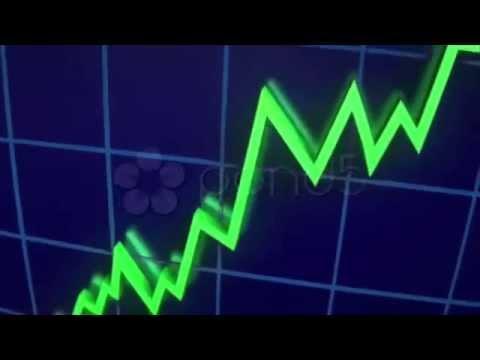 Rising Graph, Bull Market, Positive News. Stock Footage
