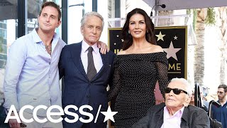 Kirk Douglas Was Too Cool Rocking Black Shades At 101 For Son Michael Douglas' Walk Of Fame Ceremony