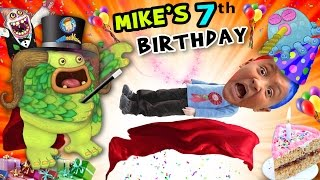 Mike's 7th Birthday! A Magically Monsterific Party Celebration! (FUNnel Vision B-Day Vlog)