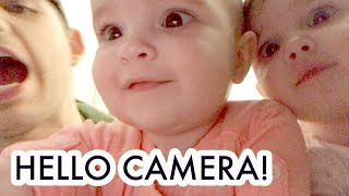 TWIN BABY GIRLS ARE READY FOR THEIR CLOSE UP!  /// McHusbands