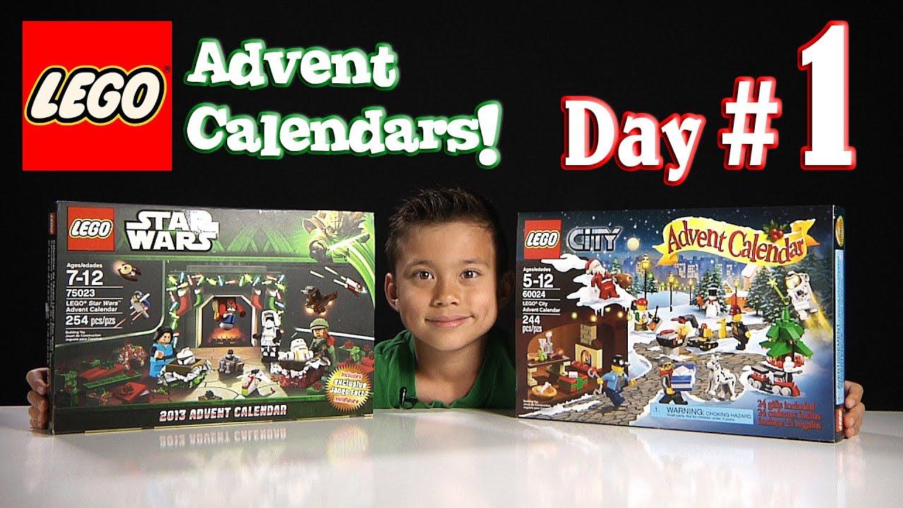LEGO CITY Advent Calendar & LEGO STAR WARS Advent Calendar DAY 1 ...