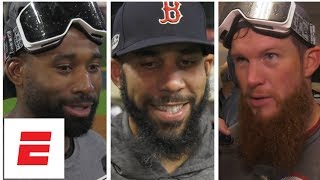 Boston Red Sox react to reaching World Series | MLB Interviews