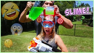 DUNK HAT CHALLENGE!! Do NoT GET SLIMED!!