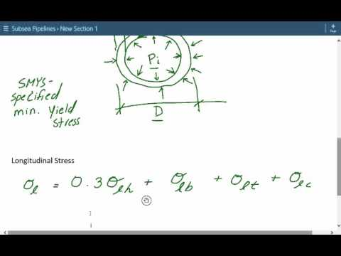 Subsea Pipelines Design Lecture 3 - Introduction to Hoop, Longitudinal, and Equivalent Stress