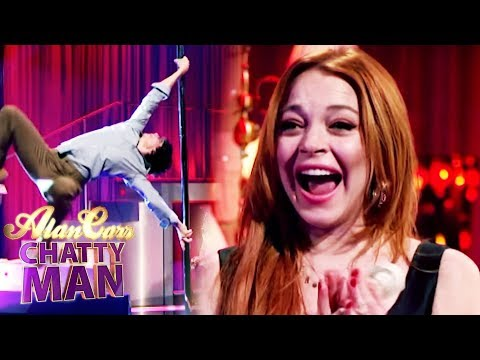 Lindsay Lohan Teaches Alan How To Pole Dance - Alan Carr Chatty Man