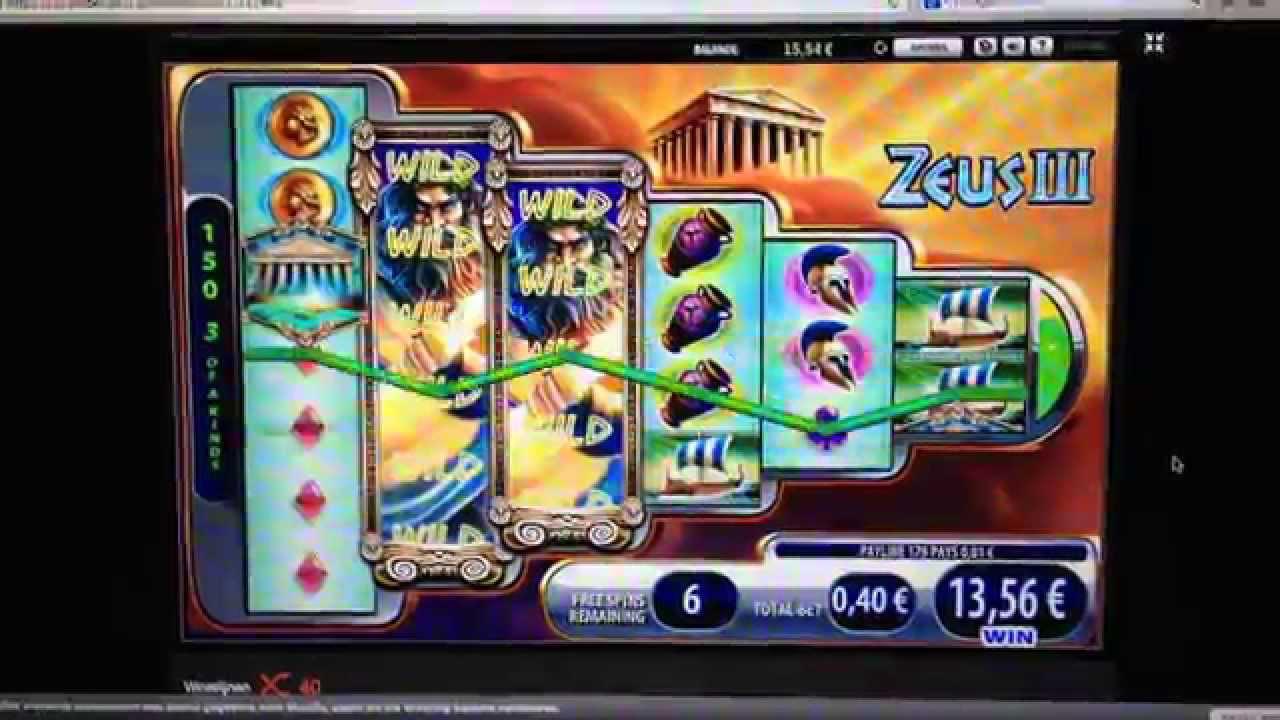 Zeus slot machine wins