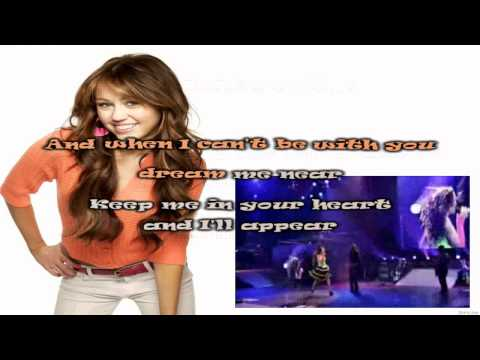 Miley Cyrus Right Here Karaoke (HD)