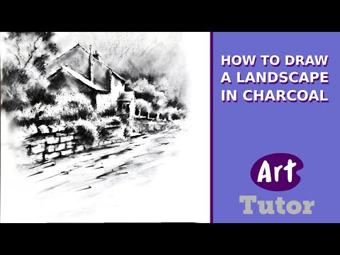 How To Draw With Charcoal: Part 1 - Landscape From Photo