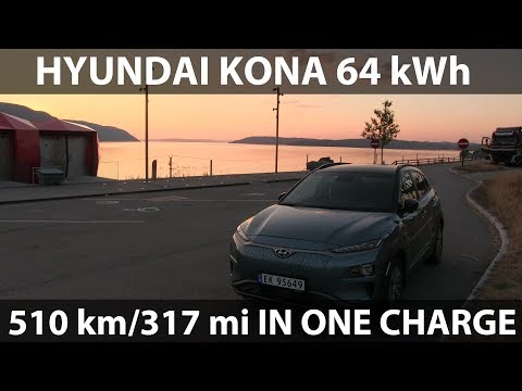 Hyundai Kona driving 510 km/318 mi in one charge
