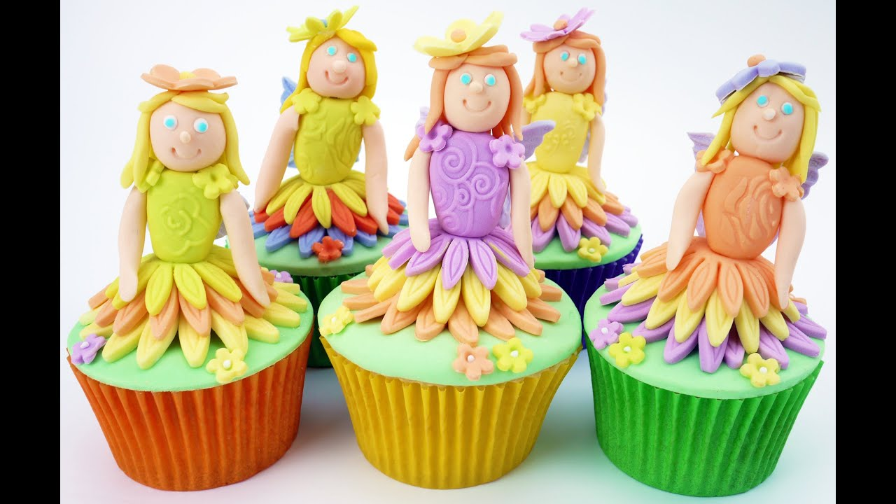 Flower fairy cupcakes by cake craft world youtube for How to make fairy cupcakes
