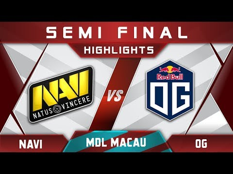 NaVi vs OG Semi Final MDL Macau 2017 Minor Highlights Dota 2
