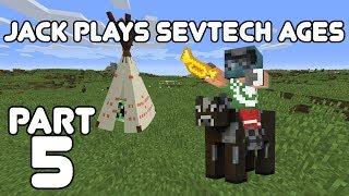 Jack Reaches Age 1! Jack plays Minecraft: SevTech Ages Part 5