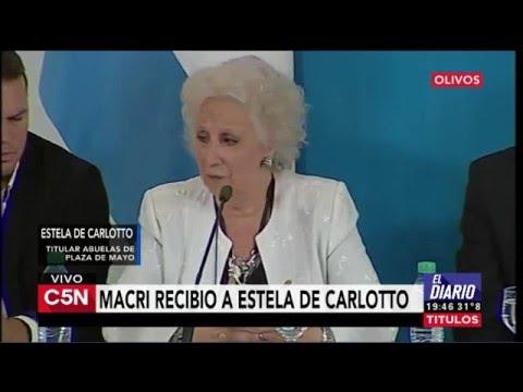 C5N - Política: Mauricio Macri recibió a Estela de Carlotto