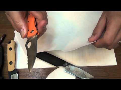 My Izula2 sharpening with sandpapers