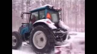 Valtra n121 Snow Plowing