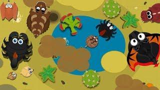 MOPE.IO / RATTLESNAKE EATS BLACKWIDOW SPIDER / PTERODACTYL, SCORPION & BLACK DRAGON GAMEPLAY