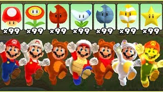 Super Mario 3D Land - All Power-Ups