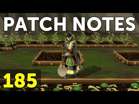 RuneScape Patch Notes #185 - 4th September 2017