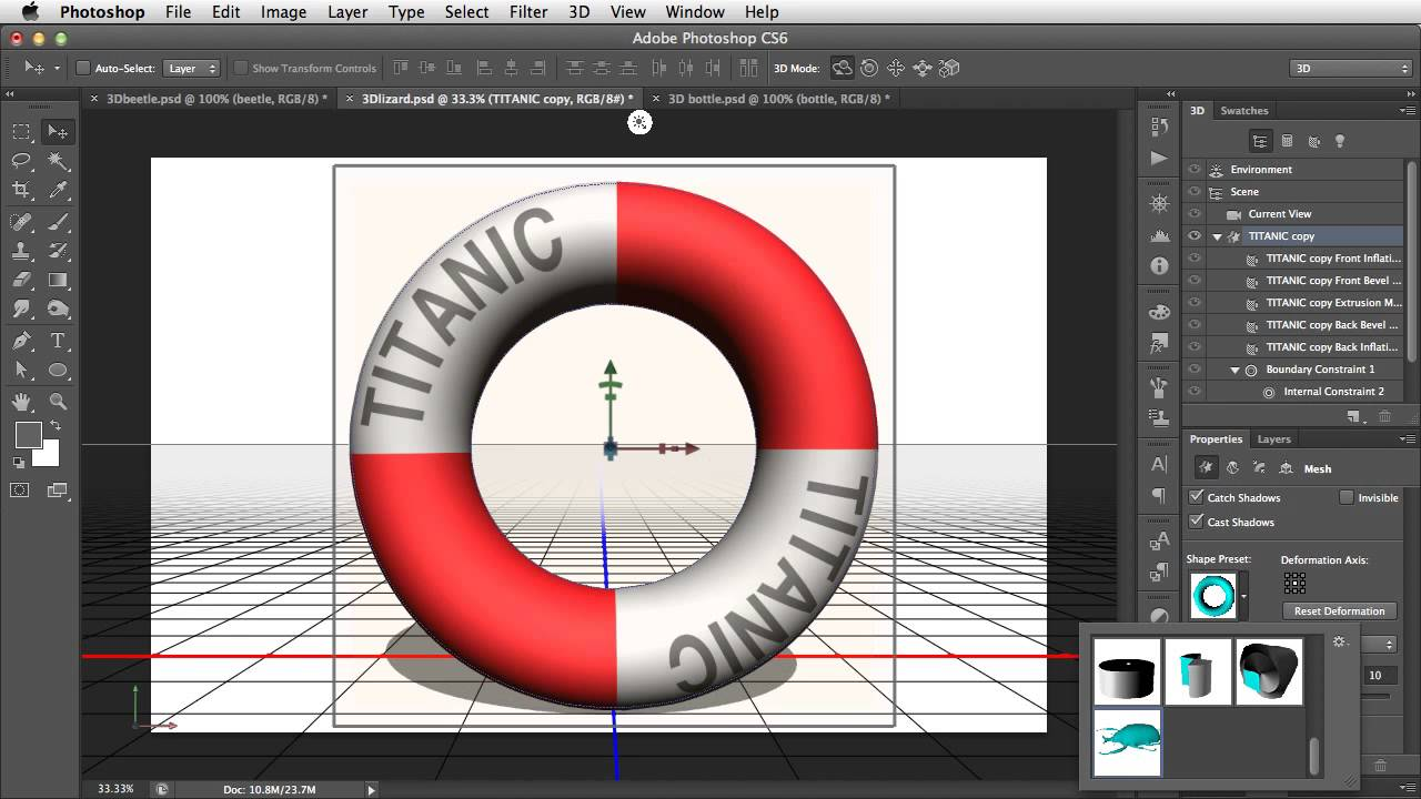 Create 3d objects by inflating 2d photographs in photoshop for 3d building creator