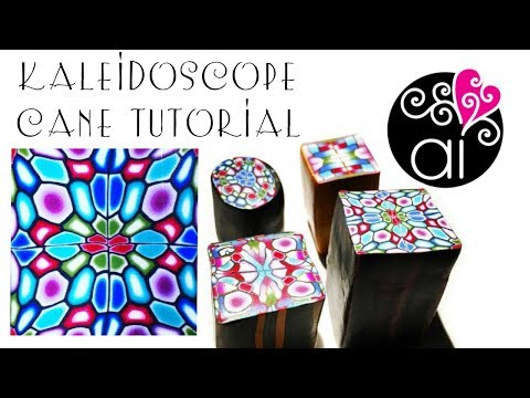 Kaleidoscope Cane Tutorial   Polymer Clay Easy Millefiori Cane