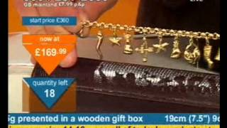 Andy Hodgson sells a 9ct gold charm bracelet on Bid TV