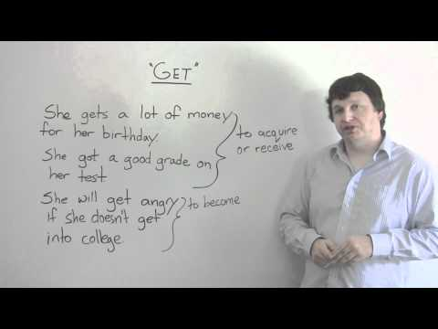 English Vocabulary – GET