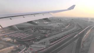 LH638: Early morning landing in Dubai with Lufthansa A330-300