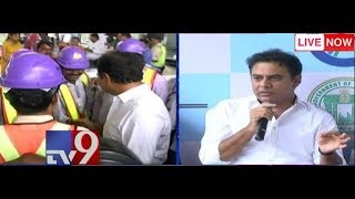 KTR Inspect Metro Works || Hyderabad || LIVE