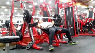 Incline bench press 90kg +
