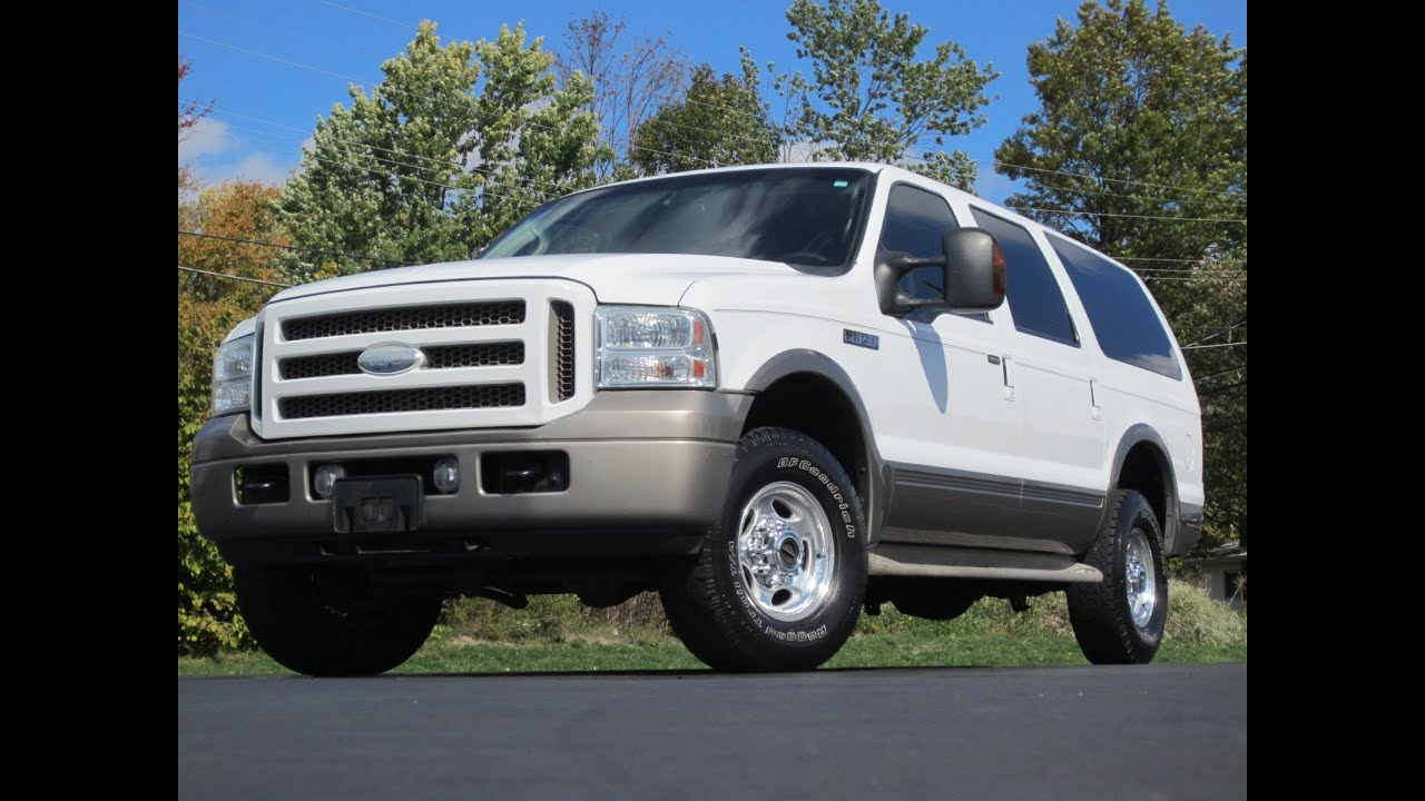 2005 ford excursion eddie bauer 4x4 powerstroke diesel. Black Bedroom Furniture Sets. Home Design Ideas