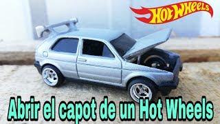 Abriendo el capot del GOLF MK2 / hot wheels | custom de casa