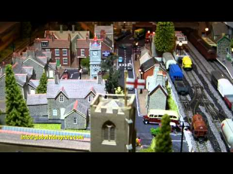 Miniature Electric Train Set Inside Coffee Table England