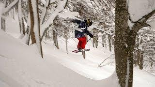 WHO ELSE LOVES TREE SKIING IN JAPAN / Vlog2-18