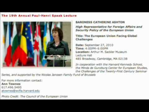 Catherine Ashton: Part 1, Speech at Harvard with a statement about Ukraine's future in the EU