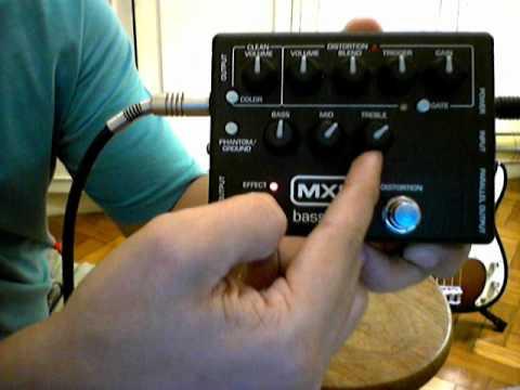 Pedal MXR BASS DI+ M80  Fender Precision