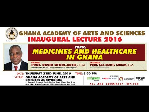 LIVE STREAM of GAAS Inaugural Lecture 2016 by Prof. David Ofori-Adjei
