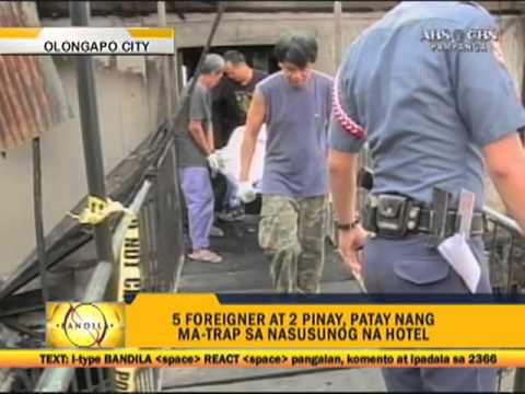4 foreigners, 3 Filipinas killed in Olongapo hotel fire