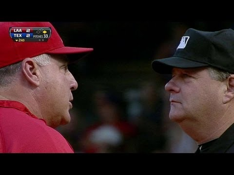 LAA@TEX: Scioscia gets ejected after arguing play