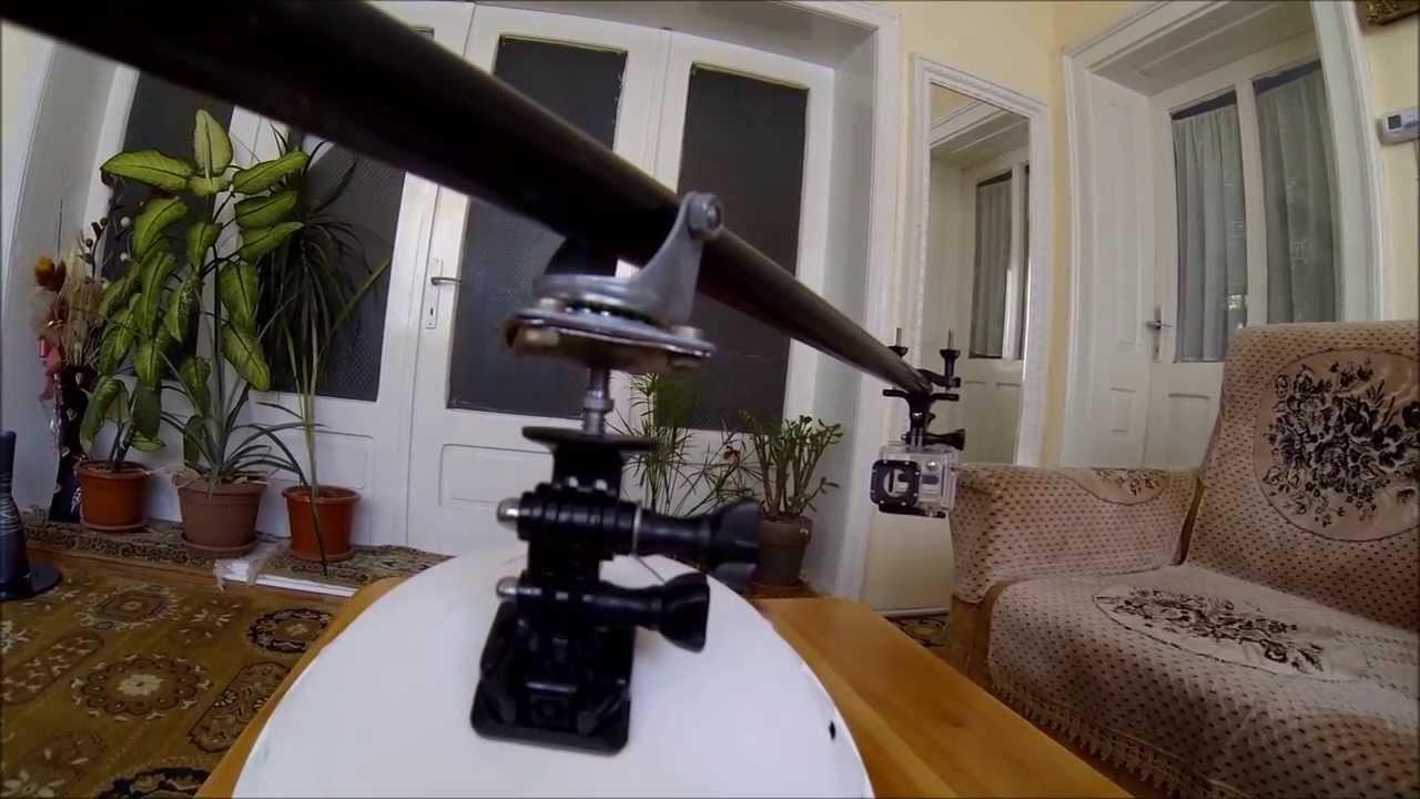 Gopro 360 rotor mount home made DIY no holes in helmet