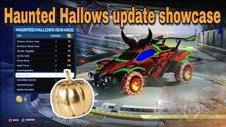 *New*2018 Haunted Hallows update|Golden Pumkin opening!|(Halloween update Rocket League)