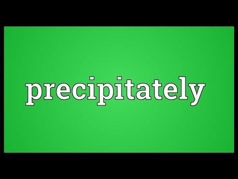 Header of precipitately