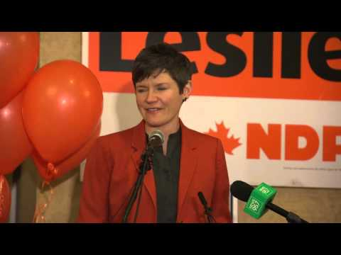 Megan Leslie thanks supporters in Halifax