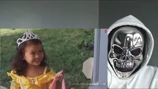 Marlon Wayans Kicking Kids Of The Porch On Halloween! REACTION