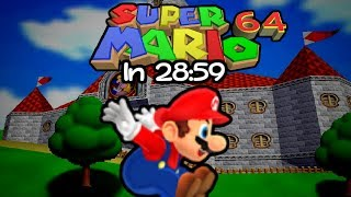 [Speedrun] Super Mario 64 in 28:59.85