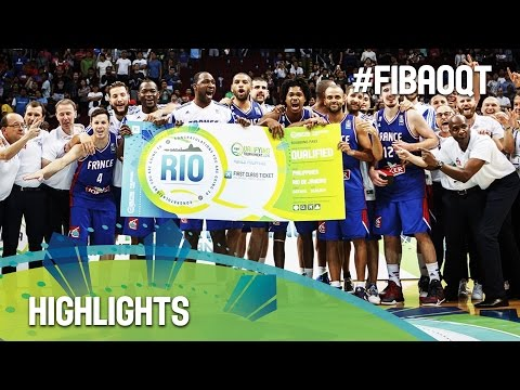 Canada v France - Highlights - 2016 FIBA Olympic Qualifying Tournament - Philippines