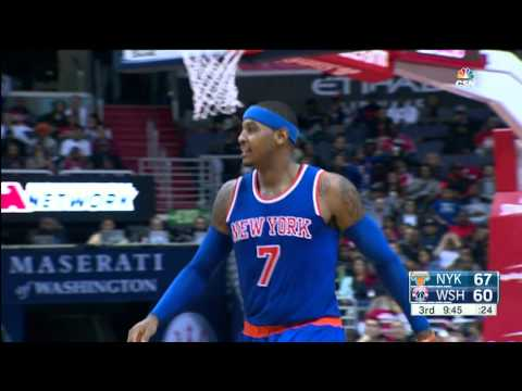 Carmelo Anthony Leads New York Past Wizards