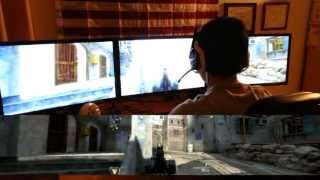 Black Ops 2 Triple Monitor Gaming Review (Nvidia Surround/ Eyefinity Gameplay, Triple Monitor Setup)