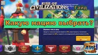 Rise Civilizations:  Какую нацию выбрать? Гайд.