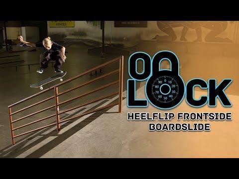12-Year Old Heelflip FS Boardslides Every Rail In The Park First Try | Filipe Mota - ON LOCK